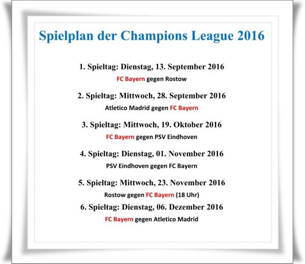 spielplan champions league 16/17